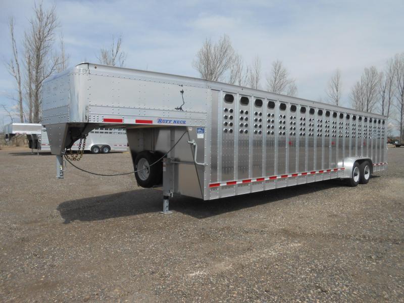 2020 EBY 32FT RUFFNECK All Aluminum Livestock Trailer