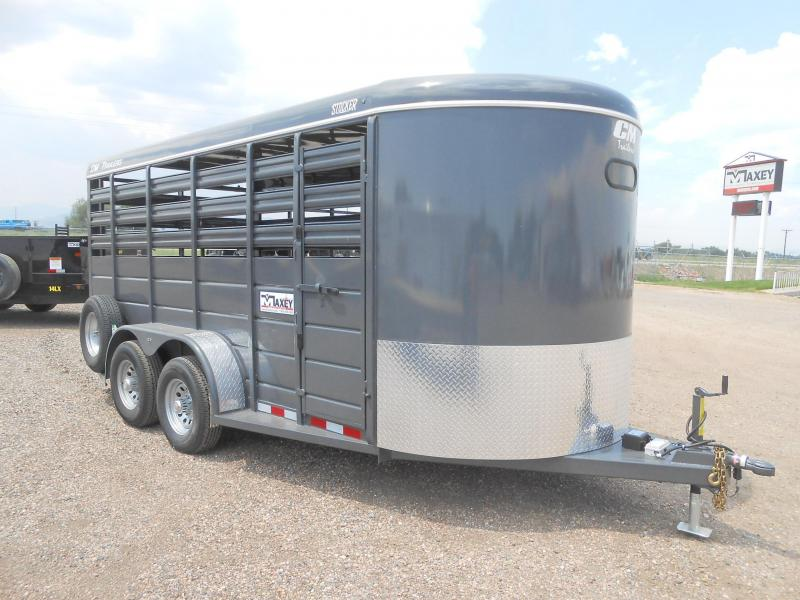 2019 CM 16FT STOCKER Livestock Trailer