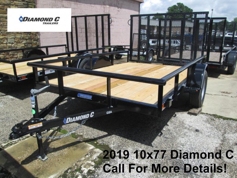 2019 10x77 Diamond C Utility Trailer. 15816
