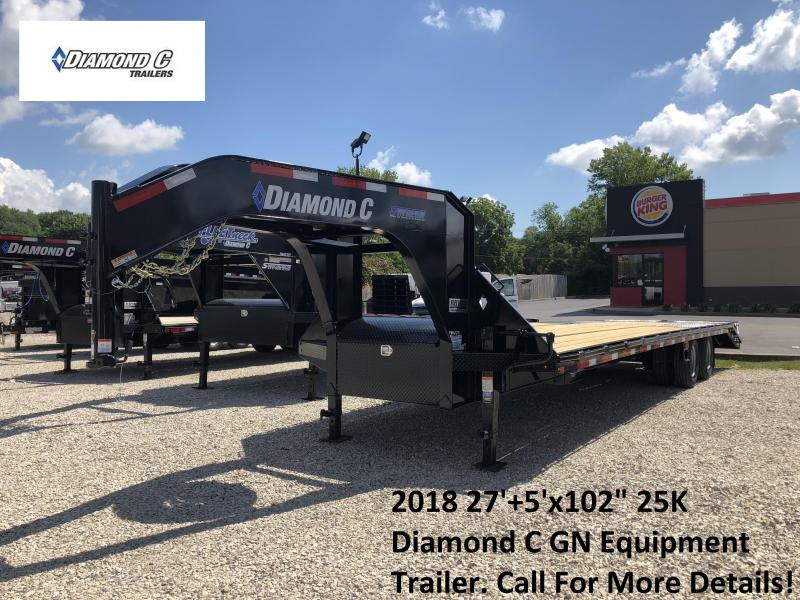 "2018 27'+5'x102"" 25K Diamond C GN Equipment Trailer. 2646"