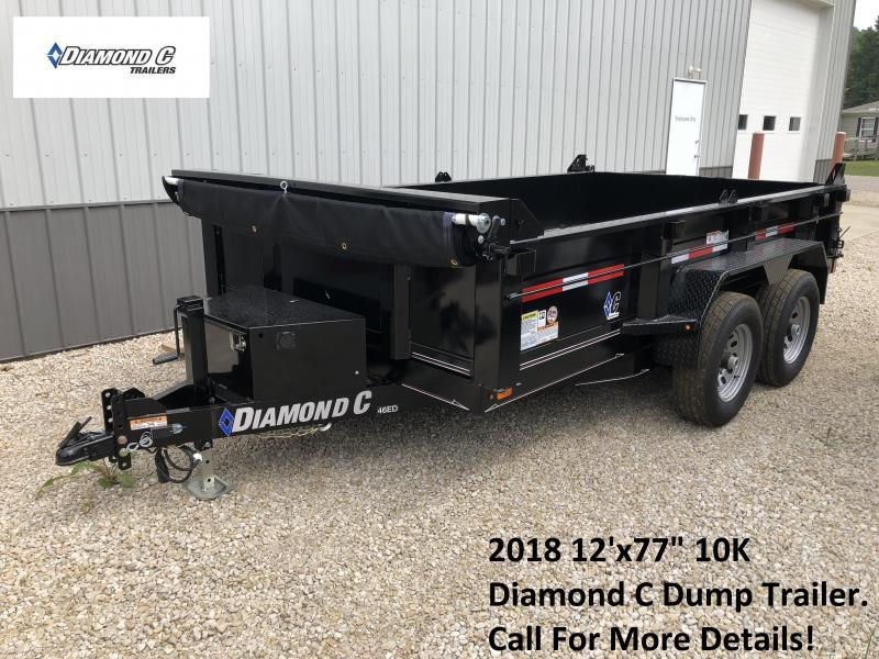 "2018 12'x77"" 10K Diamond C Dump Trailer. 2751"