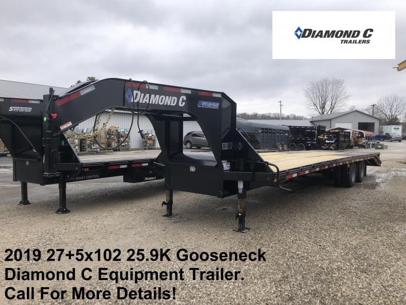 """2019 FMAX 212MR 32'x102"""" 25.9K Diamond C Engineered Beam Equipment Trailer. 11894"""