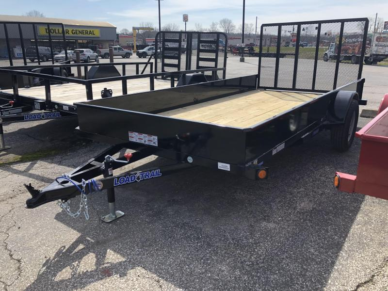 """2018 77""""x14' Load Trail Solid Sided Utility Trailer. 59889"""