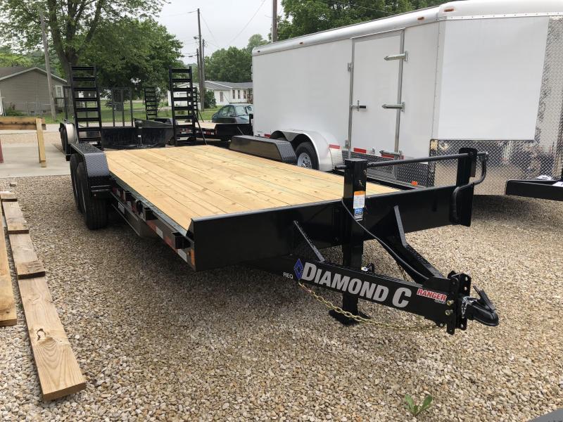 "2018 18'+2'x82"" 14k Diamond C Equipment Trailer. 2047"