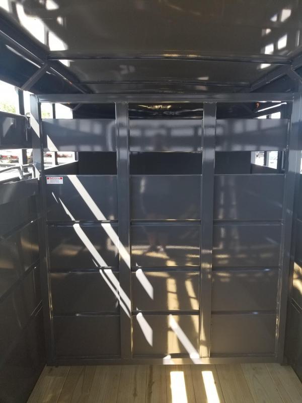 2019 6x16 Moritz International CBR6 -16 7000 Livestock Trailer