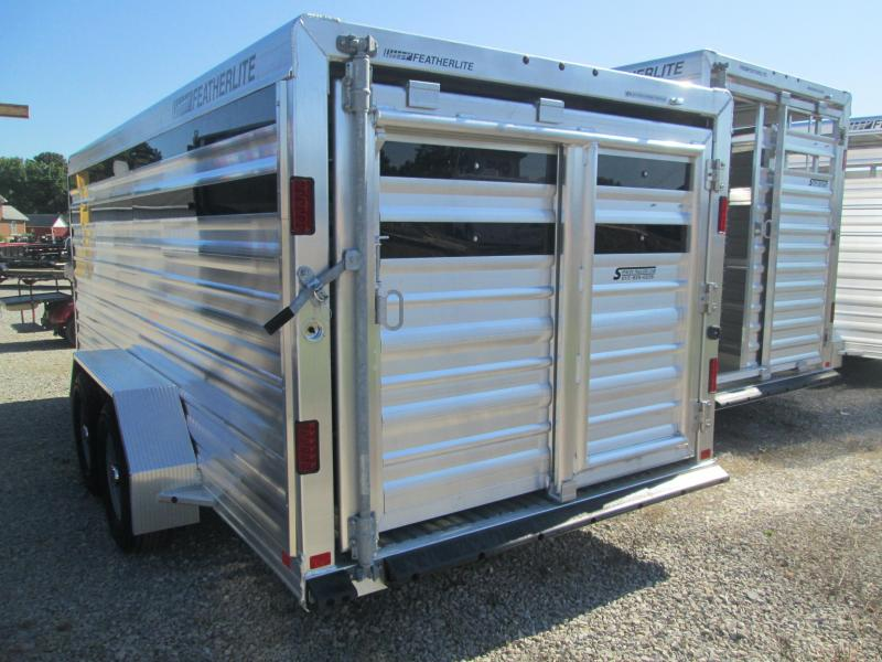 2018 16' 7k Featherlite Bumper Pull Stock Trailer. 146974