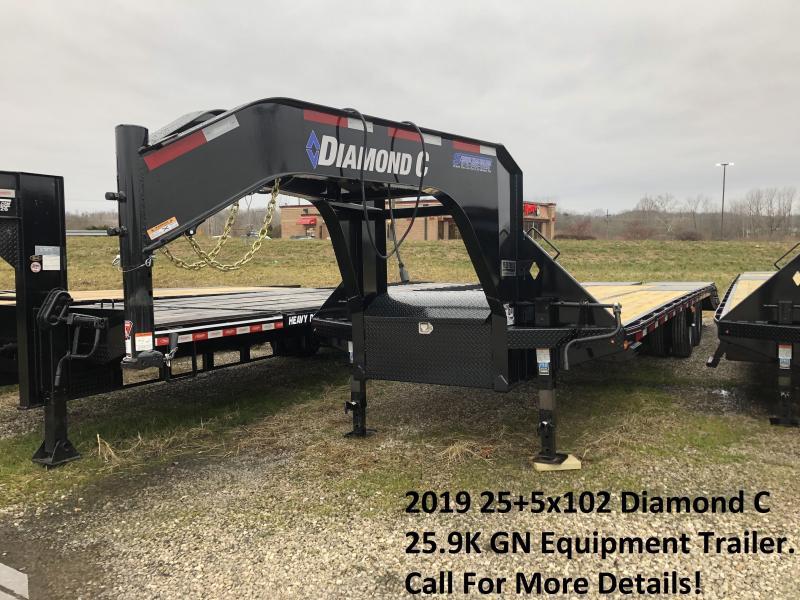 2019 25+5x102 25.9K Diamond C Engineer Beam GN Equipment Trailer. 09445