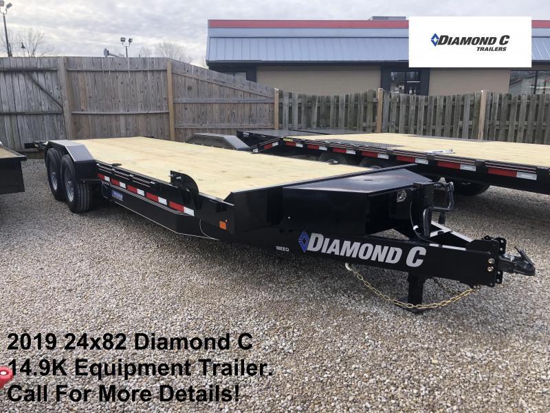 2019 24x82 14.9K Diamond C Equipment Trailer. 10302