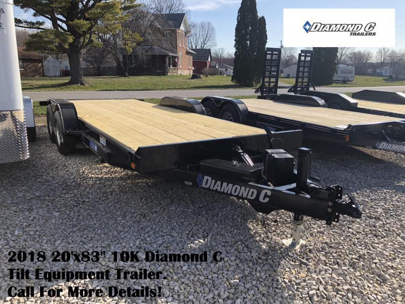 """2018 20'x83"""" 10K Diamond C Tilt Equipment Trailer. 98141"""