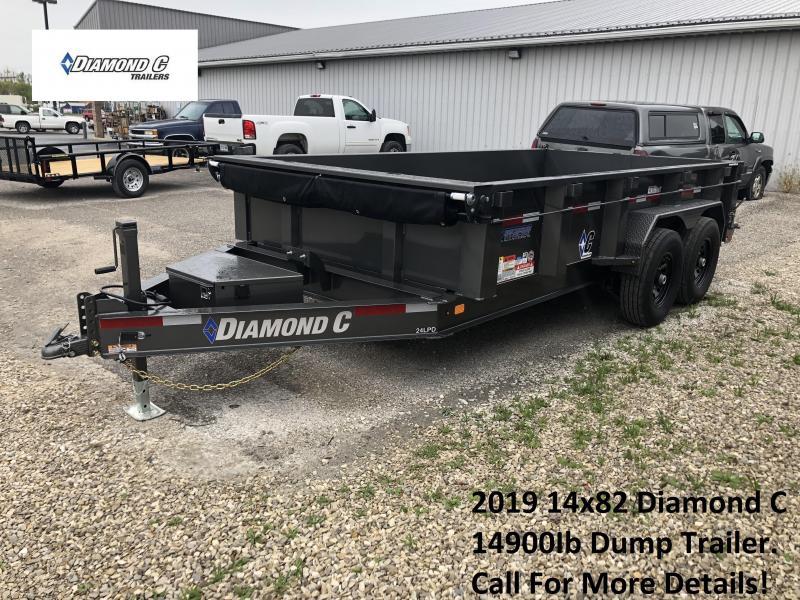 2019 14x82 14.9K Diamond C Dump Trailer. 5932