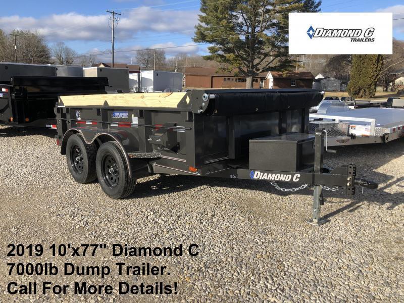 """2019 10'x77"""" 7K Diamond C Dump Trailer. 11265"""