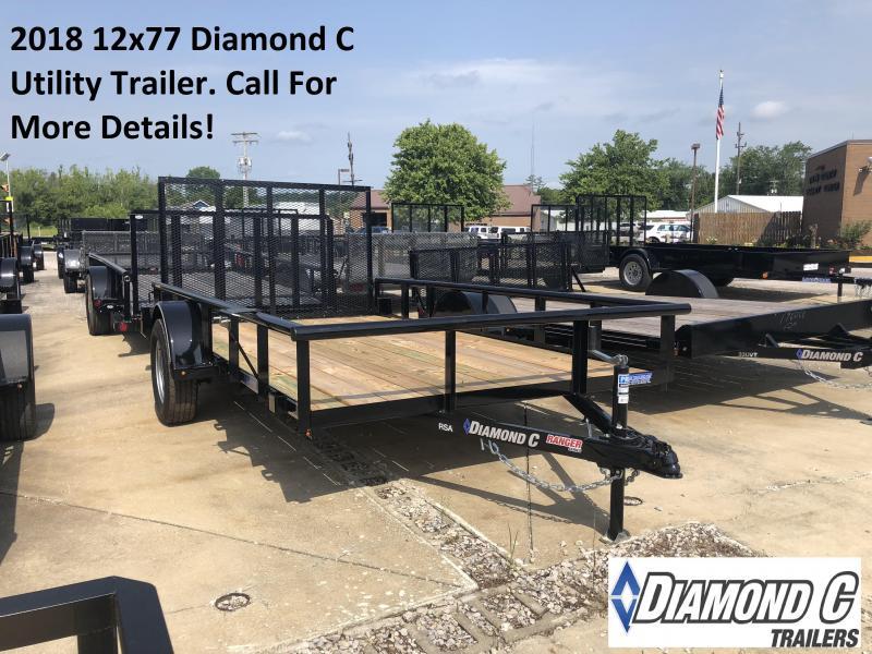 2018 12x77 Diamond C Utility Trailer. 2604