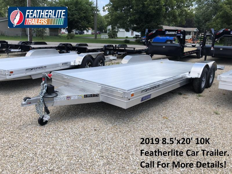 2019 8.5'x20' 10K Featherlite Car Trailer. 149712