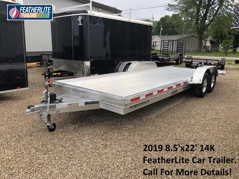 2019 22'x8.5' 14K Featherlite Car Trailer. 149713