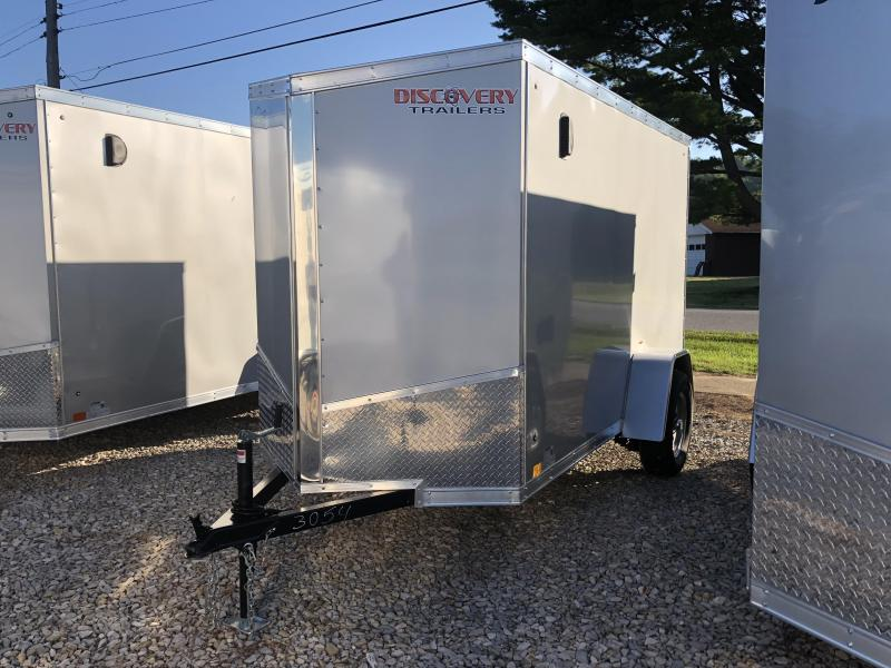 2019 5'x10' Discovery Enclosed Cargo Trailer. 3054