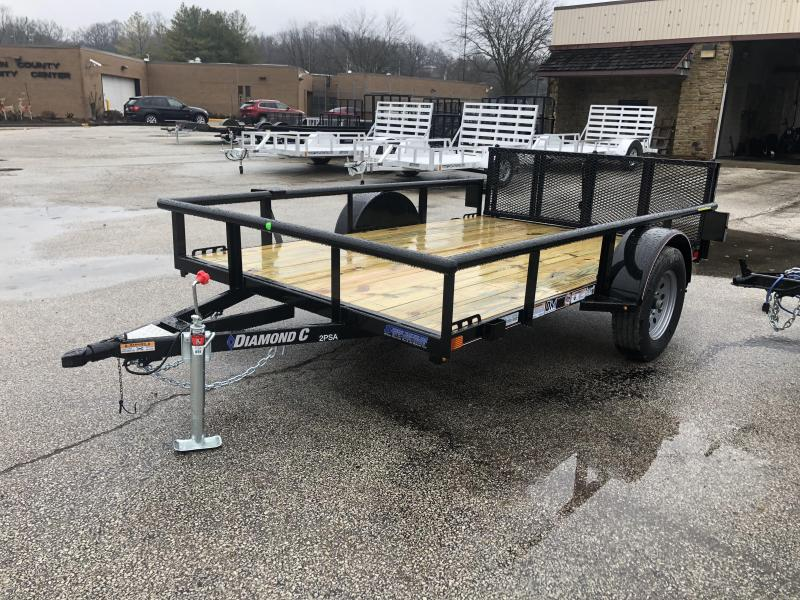 "2019 77""x10' Diamond C Single Axle Utility. 08994"
