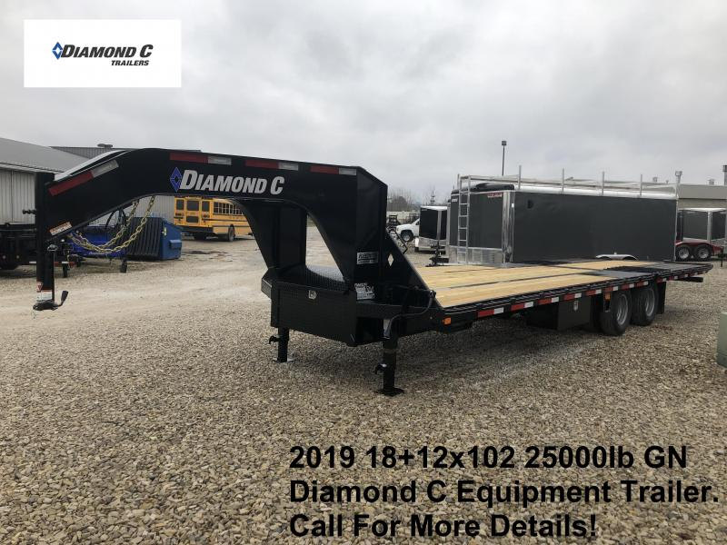 2019 18+12x102 25K Diamond C Engineer Beam GN Equipment Trailer. 11022