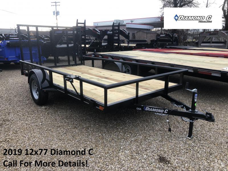 2019 12x77 Diamond C Utility Trailer. 10809