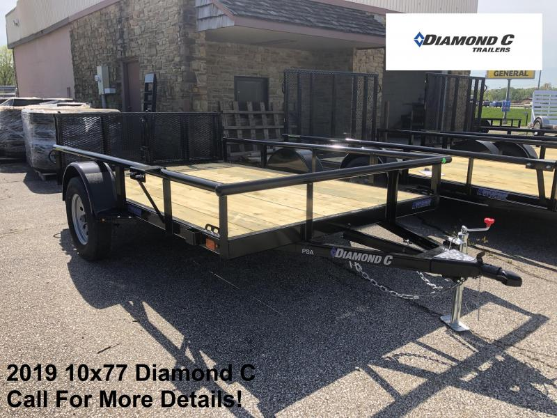 2019 10x77 Diamond C Utility Trailer. 13876