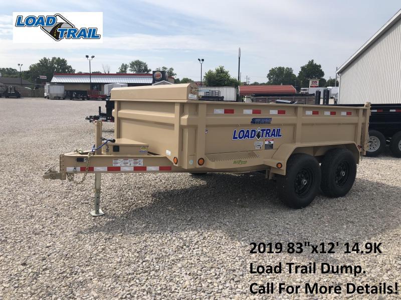 "2019 83""x12' 14.9K Load Trail Dump Trailer. 72712"
