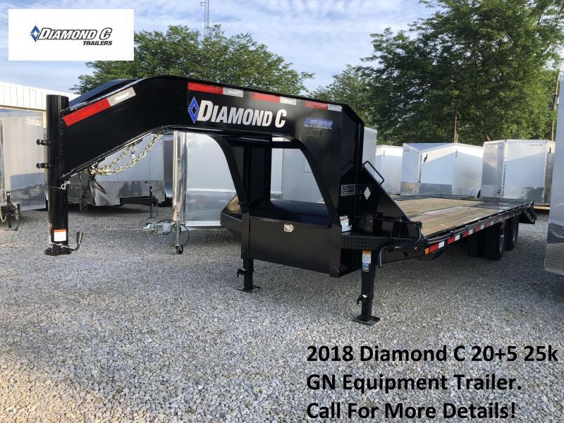 2018 Diamond C 20+5 25k GN Equipment Trailer. 03101