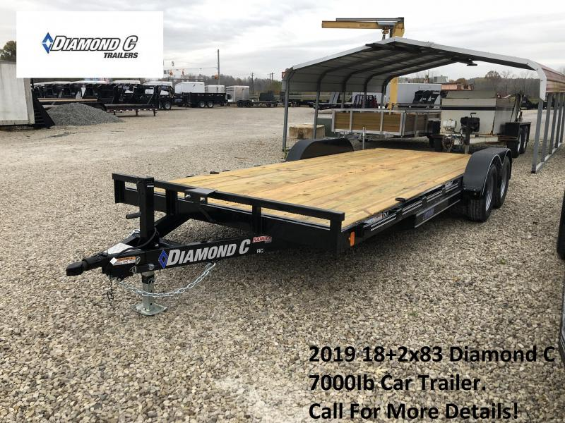 2019 18+2x83 7K Diamond C Car Trailer. 7249