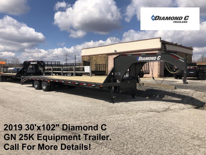 2019 30x102 25K Diamond C GN Equipment Trailer. 10929