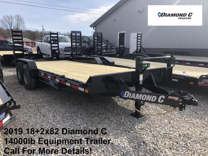 2019 18+2x82 14K Diamond C Equipment Trailer. 10305