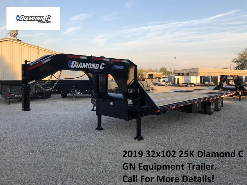 2019 20+12x102 25K Diamond C GN Equipment Trailer. 4962