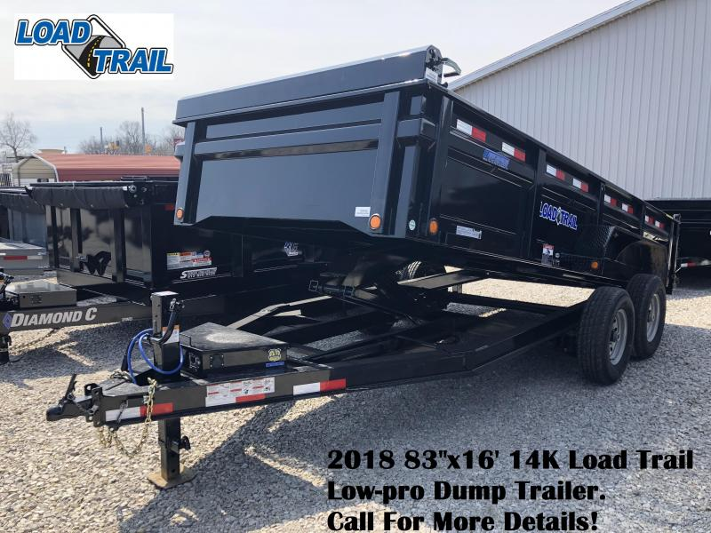 "2018 83""x16' 14K Load Trail Low-pro Dump Trailer. 59768"