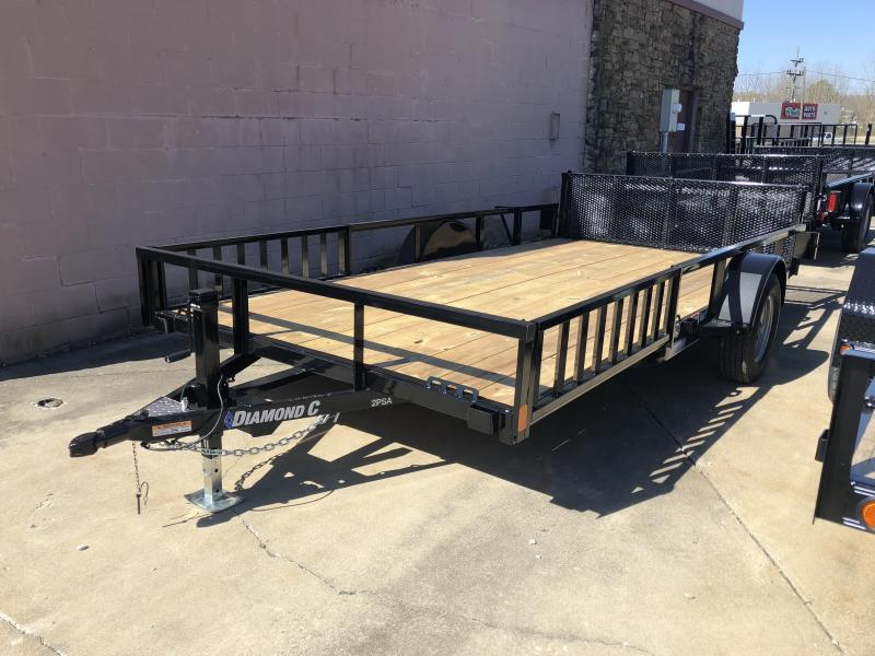 "2018 14'x83"" Diamond C Utility Trailer. 00705"