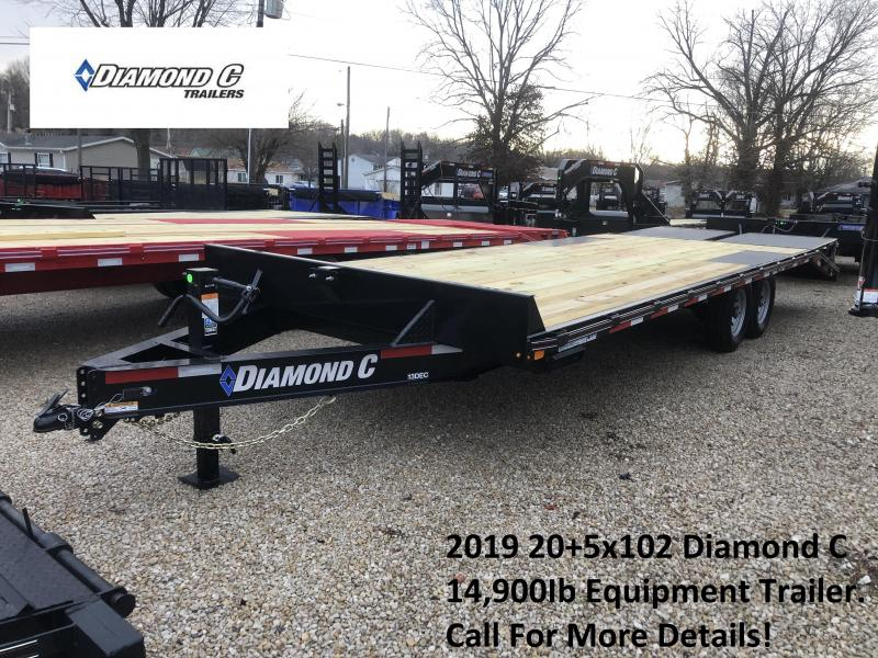 2019 20+5x102 14.9K Diamond C Equipment Trailer. 9949