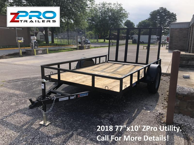 "2018 77""x10' ZPro Utility Trailer. 88055"