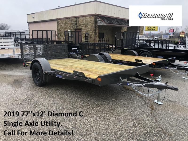 "2019 77""x12' Diamond C Single Axle Utility. 08920"