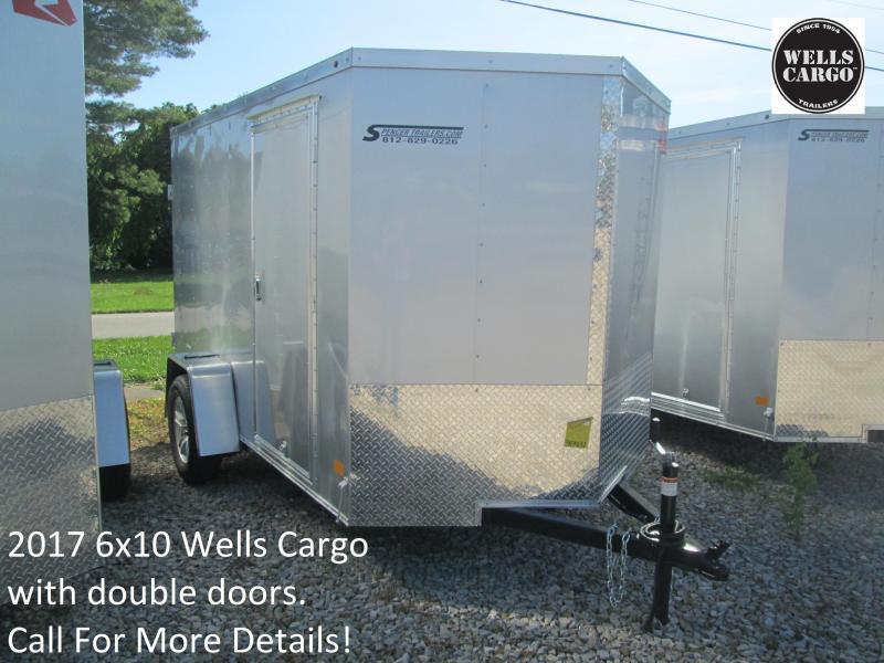 2017 6x10 Wells Cargo with double doors. 47431