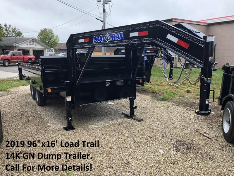 "2019 96""x16' 14K Load Trail GN Dump Trailer. 71882"
