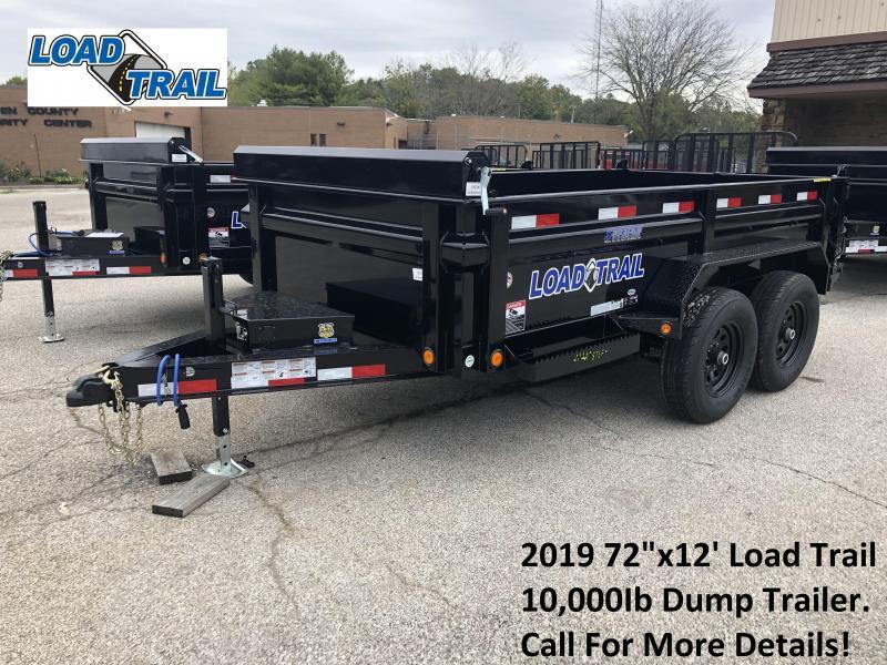 "2019 72""x12' 10K Load Trail Dump Trailer. 76745"