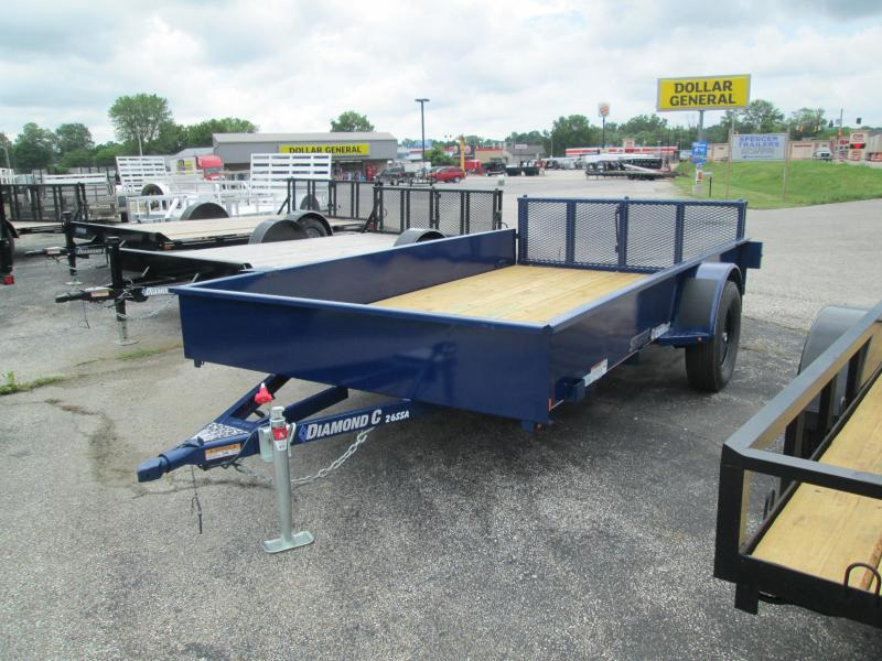 2018 12x77 Diamond C Utility Trailer. 2473