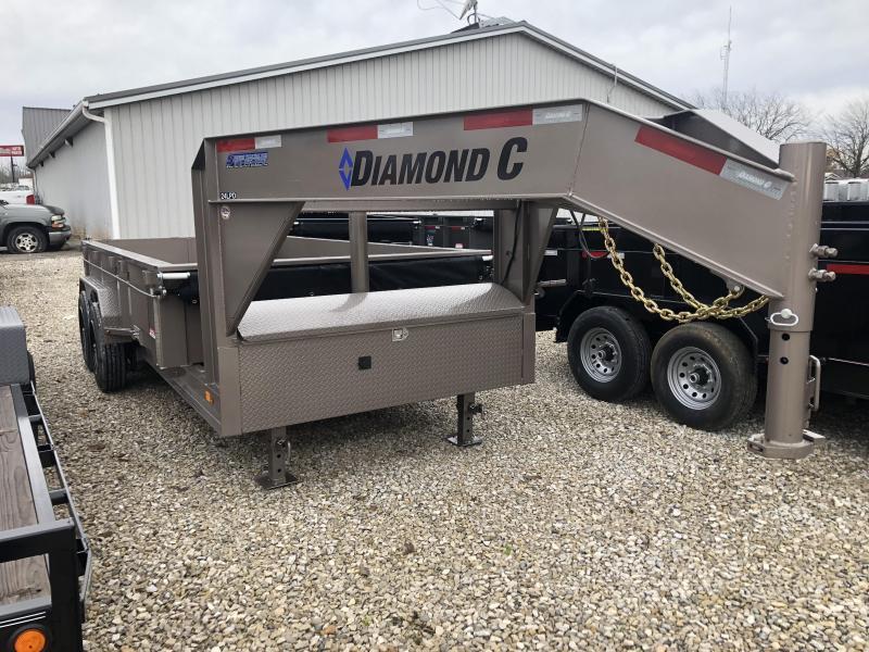 2019 14x82 18K Diamond C GN Dump Trailer. 6665