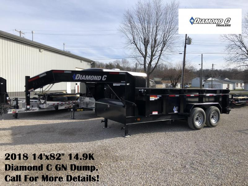 "2018 14'x82"" 14.9K Diamond C GN Dump Trailer. 98334"