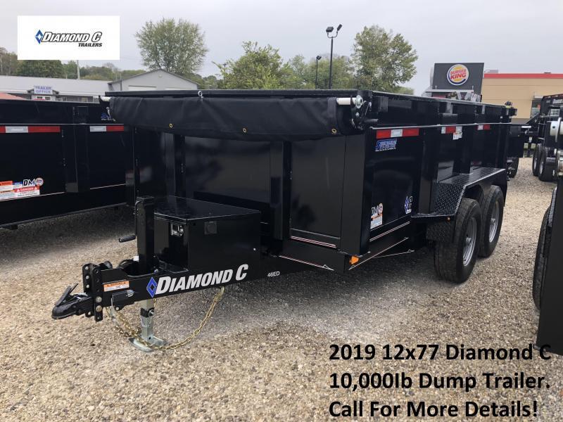 2019 12x77 10k Diamond C Dump Trailer. 5869