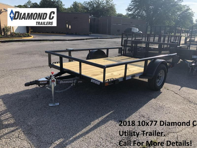 2018 10x77 Diamond C Utility Trailer. 4599