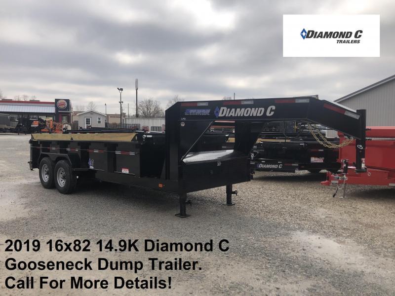 2019 16x82 14.9K Diamond C GN Dump Trailer. 10641