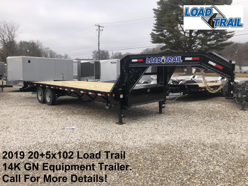 2019 20+5x102 14K Load Trail GN Equipment Trailer. 82671