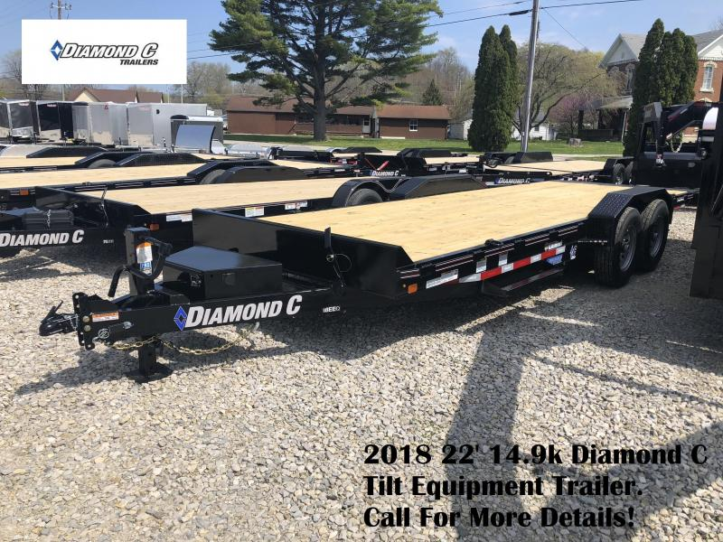 2018 22' 14.9k Diamond C Tilt Equipment Trailer. 00896