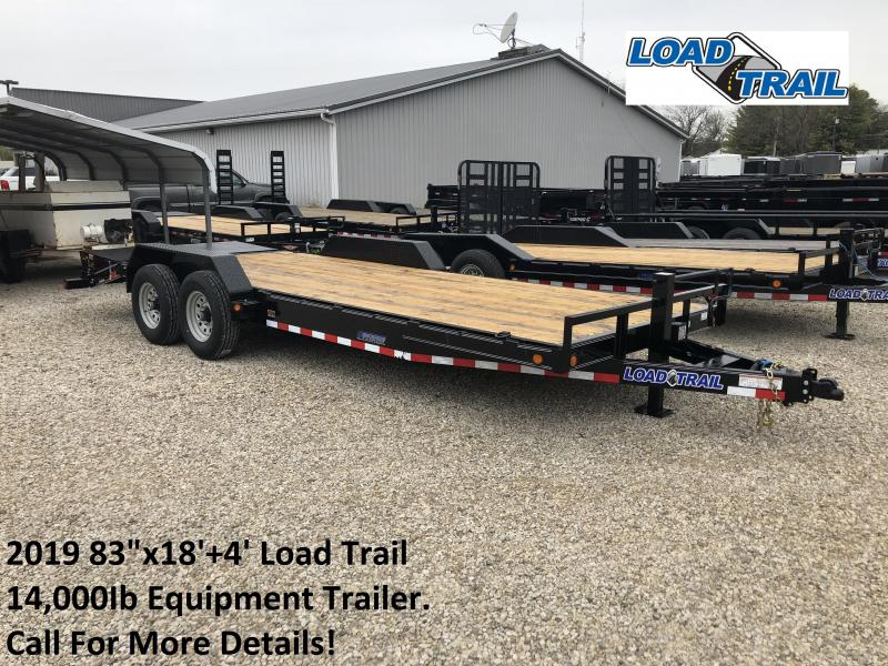 "2019 83""x18'+4' 14K Load Trail Equipment Trailer. 74782"