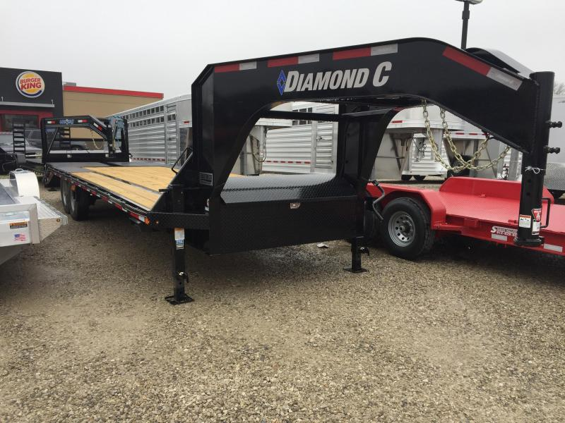 """2017 20'+5'x102"""" 15.5K Diamond C GN Equipment Trailer. 99596"""