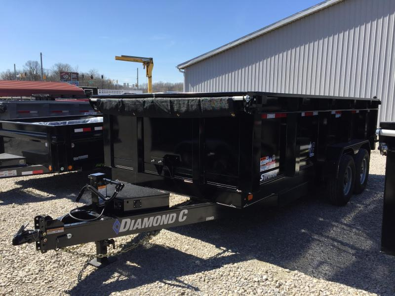 "2018 16'x82"" 14.9K Diamond C Dump Trailer. 98152"