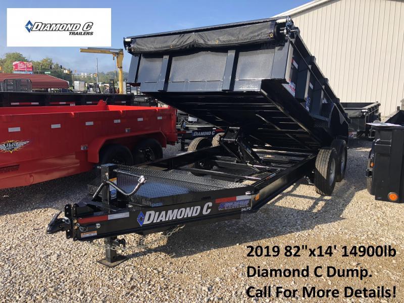 "2019 82""x14' 14900lb GVWR Diamond C Dump. 05141"