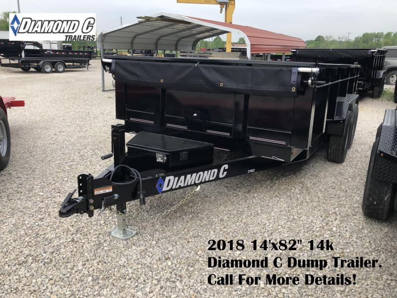 "2018 14'x82"" 14k Diamond C Dump Trailer. 00482"